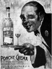Ponche Crema, aviso de 1905